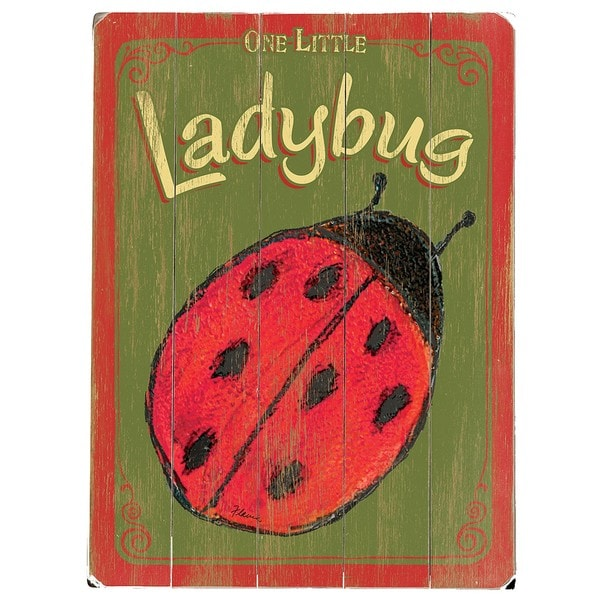 Artehouse 'Lady Bug' Wood Sign