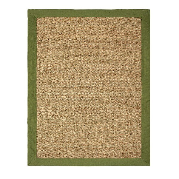 Hand-woven Coastal Seagrass Sage Area Rug (2' x 3')