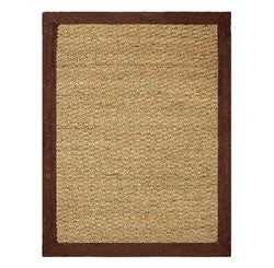Hand-woven Coastal Seagrass Chocolate Area Rug (5' x 7')