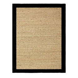 Hand-woven Coastal Seagrass Black Area Rug (3'4 x 5')