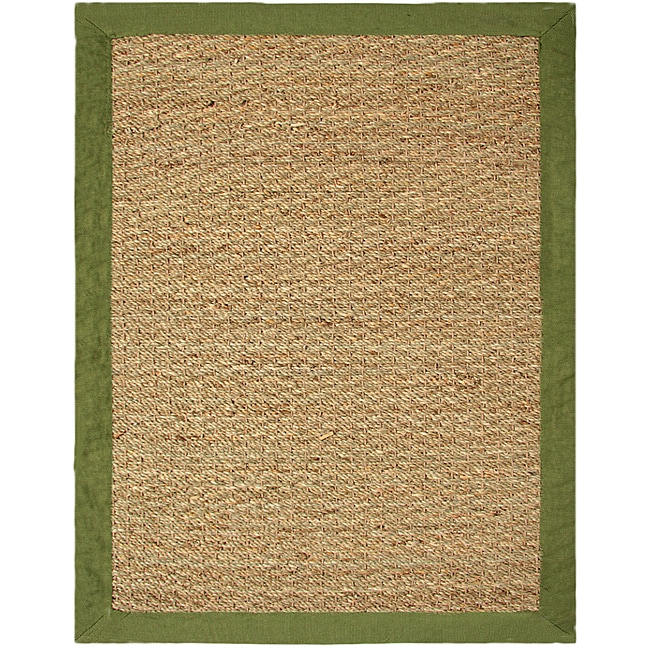 Hand-woven Coastal Seagrass Sage Area Rug (5' x 7')
