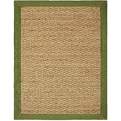 Hand-woven Coastal Seagrass Sage Area Rug (5' x 7')