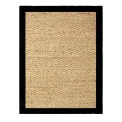 Hand-woven Coastal Seagrass Black Area Rug (5' x 7')