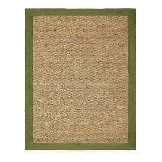 Hand-woven Coastal Seagrass Green Area Rug (3'4 x 5')