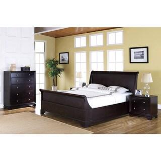 Abbyson Living Kingston 4-piece Espresso Sleigh Queen-size Bedroom Set
