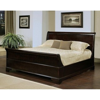 Abbyson Living Kingston Espresso Sleigh California King-size Bed