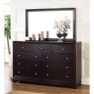 Abbyson Living Kingston Espresso 9-drawer Dresser and Mirror Set