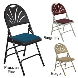 NPS Extended Height Polyfold Fan Back Folding Chair (Pack of 4)