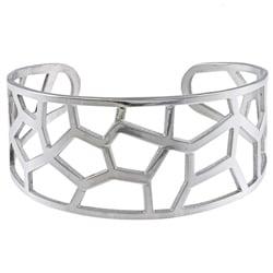 La Preciosa Stainelss Steel Lines Cuff Bracelet