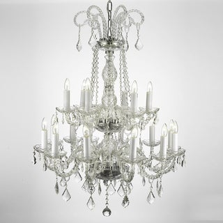 Crystal Two-tier 18-light Chandelier