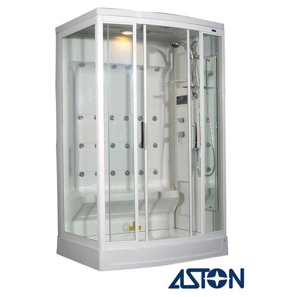 Aston White 24-jet 85-inch Steam Shower