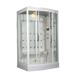 Aston White 85-inch 24-jet Steam Shower