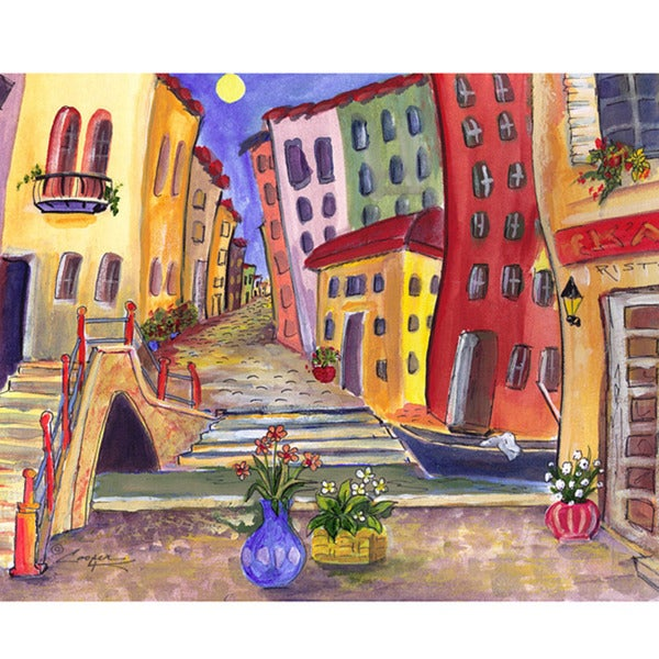 Green Leaf Art Cooper K 'Italy Road' Canvas Art