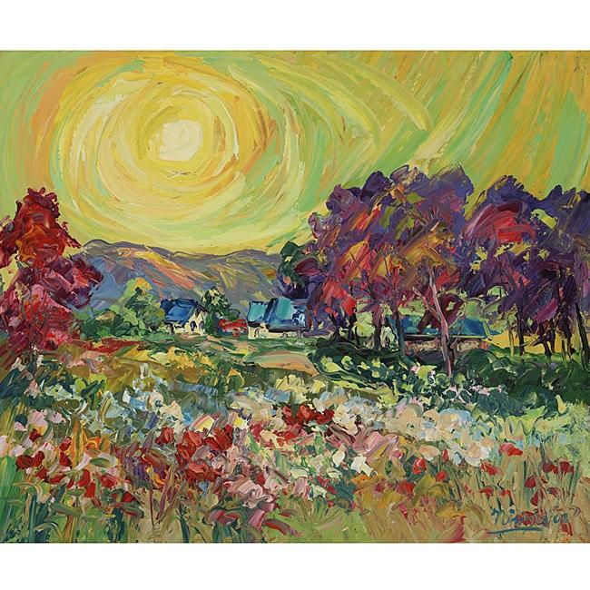 Green Leaf Art Charles Nivens 'Heavenly 1' Canvas Art