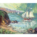 Charles Nivens 'Lake View 1' Canvas Art