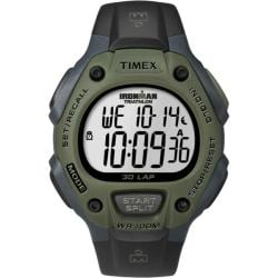 Timex Men's T5K520 Ironman Traditional 30-Lap Black/Dark Green Watch