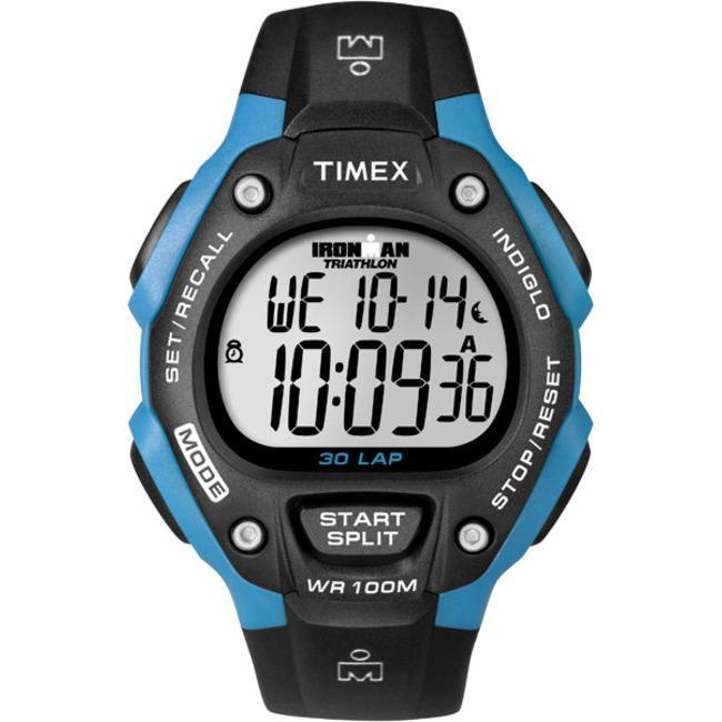 Timex Unisex T5K521 Ironman Traditional 30-Lap Black/Bright Blue Watch