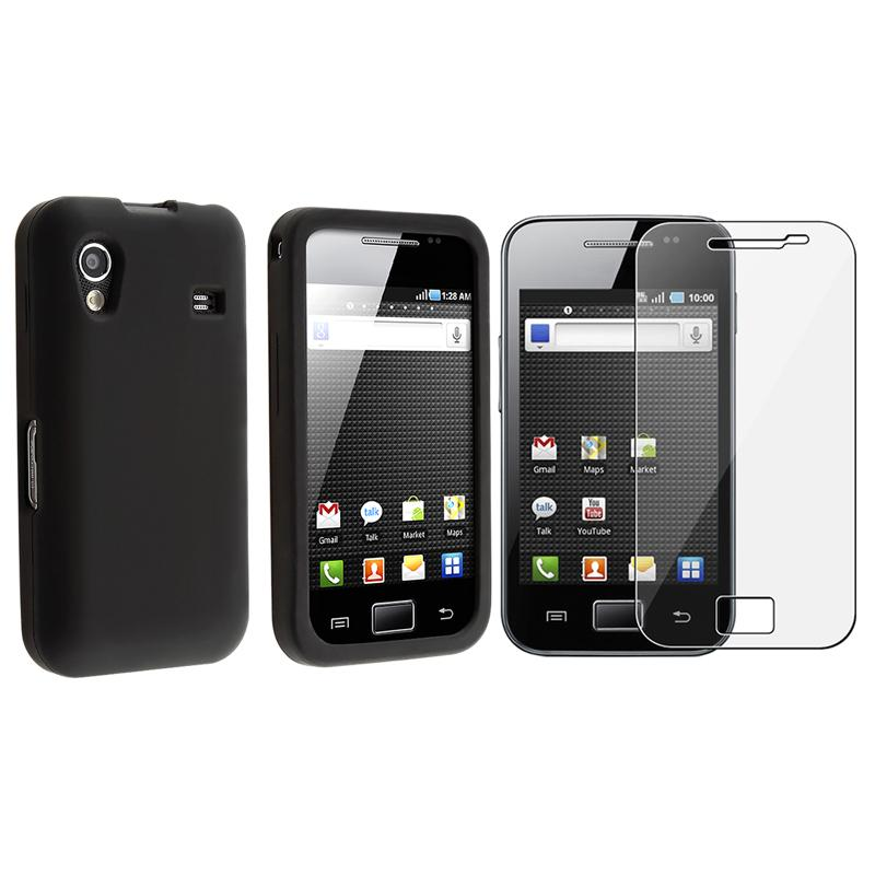 INSTEN Black Phone Case Cover/ Screen Protector for Samsung Galaxy Ace