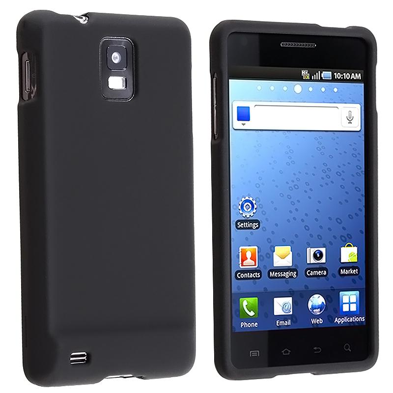 INSTEN Black Rubber Coated Phone Case Cover for Samsung SGH-i997 Infuse 4G