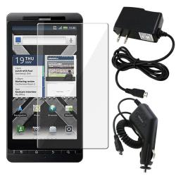 Screen Protector/ Travel and Car Charger for Motorola Droid X2
