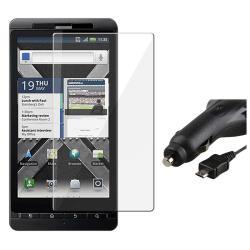 Screen Protector/ Car Charger for Motorola Droid X2