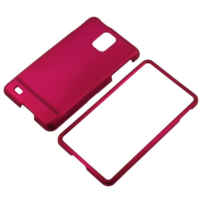 Hot Pink Rubber Coated Case for Samsung SGH-i997 Infuse 4G