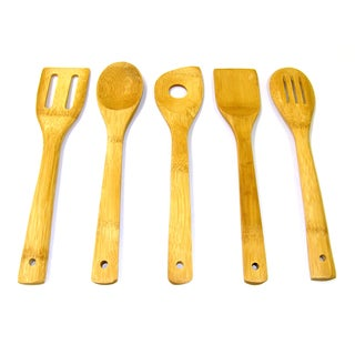 Prime Pacific 5-piece Eco Freindly Bamboo Kitchen Tool Set