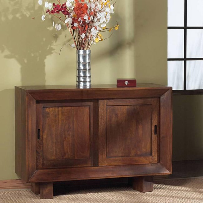 Solid Mango Sliding Door Sideboard