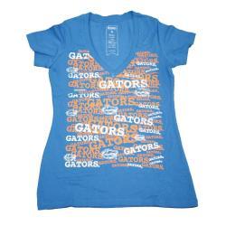 Campus Couture Women's Florida Gators Rylan V-neck T-shirt