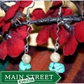 Susen Foster Silverplated Deserts of the World Turquoise/African Opal Earrings