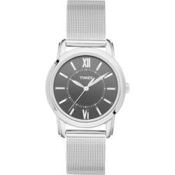 Timex Women's 'Style' Black Dial Mesh Bracelet Watch