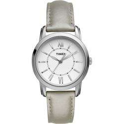 Timex Women's 'Style Chic' Silver Leather Strap Watch
