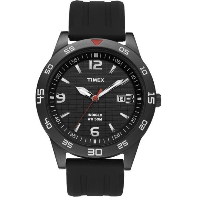 Timex Men's T2N694 Elevated Classics Dress Sport Black IP Case Black Watch