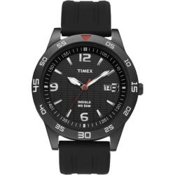 Timex Men's T2N694 Elevated Classics Dress Sport Black IP Case Black Watch