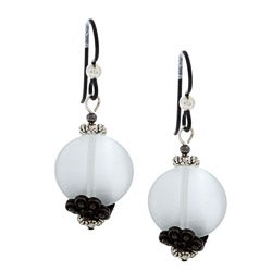 MSDjCASANOVA Tierracast White Fiber Optic Bead Earrings