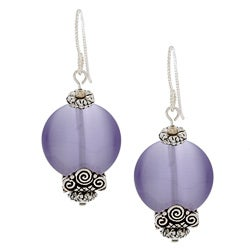 MSDjCASANOVA Tierracast Light Purple Fiber Optic Bead Earrings