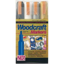 Zig Woodcraft Basic Chisel Tip Markers (Pack of 4)