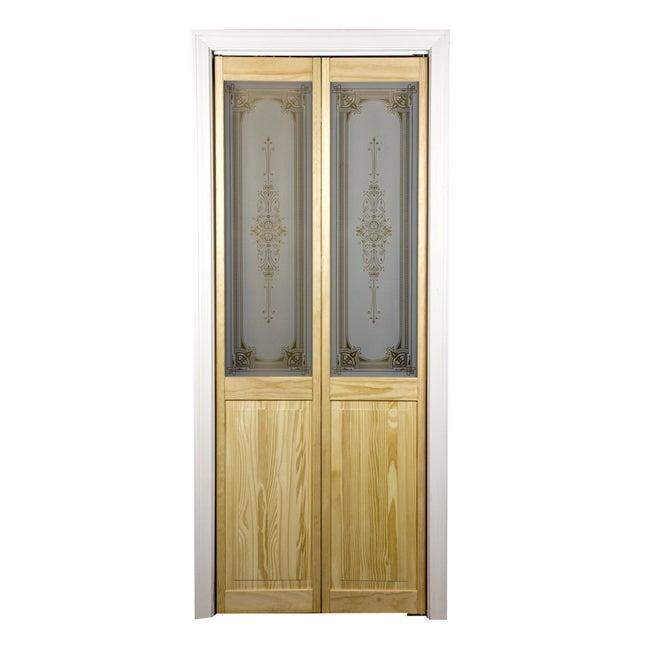 "Burgundy Glass over Panel 24 "" x 80.5 "" Unfinished Bifold Door"