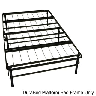 DuraBed Twin Extra Long-size Heavy Duty Steel Foundation & Frame-in-One Mattress Support System Platform Bed Frame