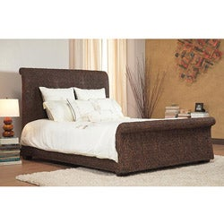 Banana Weave Queen-size Sleigh Bed