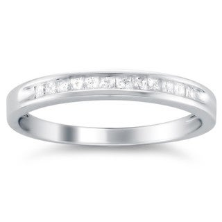 14k White Gold 1/4ct TDW Diamond Wedding Band (I-J, I1-I2)
