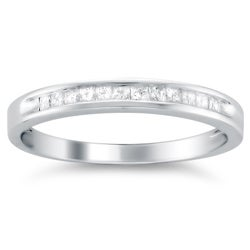 14k White Gold 1/4ct TDW Diamond Wedding Band (I-J, I2-I3)