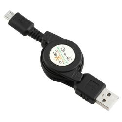 Insten Clear Screen Protector/ BasAcc Retractable USB Cable for Sony Ericsson Xperia Play