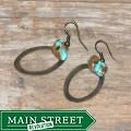 Susen Foster Bronze Cimarron Turquoise Earrings