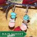 Susen Foster Silverplated Family Luau Turquoise and MOP Earrings