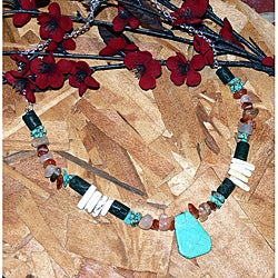 Susen Foster Silverplated Ceremonial Moment Multi-gemstone Necklace