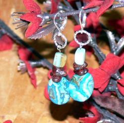 Susen Foster Silverplated Queen's Bounty Multi-gemstone Earrings