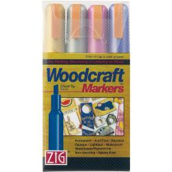 Zig Woodcraft Metallic Chisel Tip Markers (Pack of 4)
