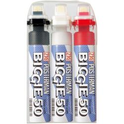 Zig Posterman Biggie 50 mm Tip Markers (Pack of 3)