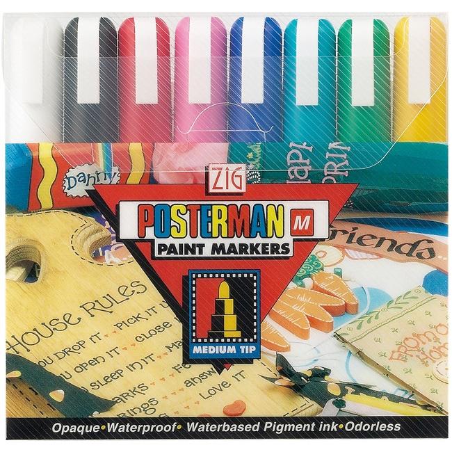 Zig Posterman Medium Tip Markers (Pack of 8)